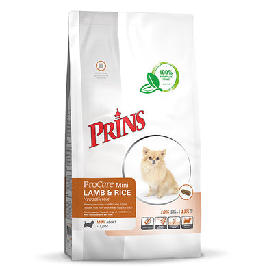 ProCare MINI Lamb&Rice Hypoallergic - for voksne, sensitive hunder av mindre raser 3kg