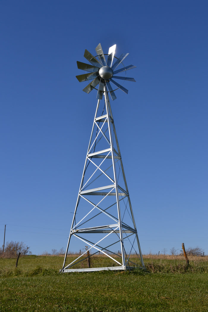 Traditional Galvanized Windmill Aerator