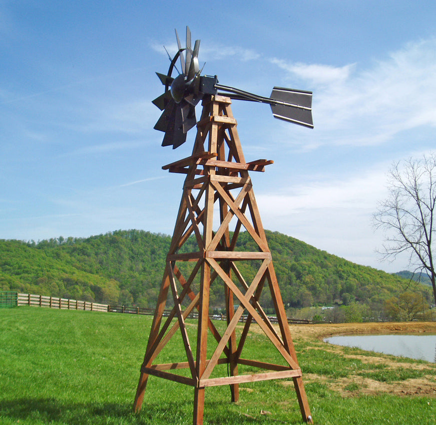 Wooden Tower Windmill Aerator