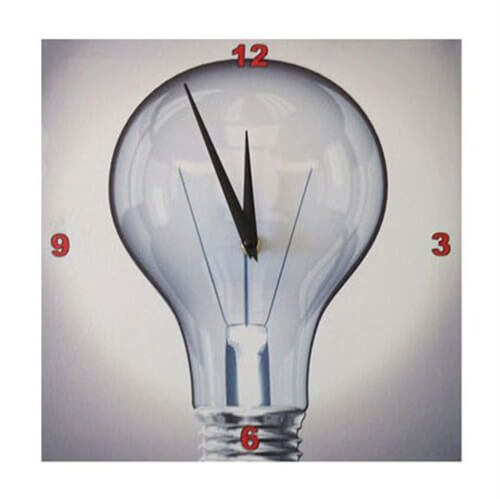 Big Bulb Wall Clock - Ampul Duvar Saati