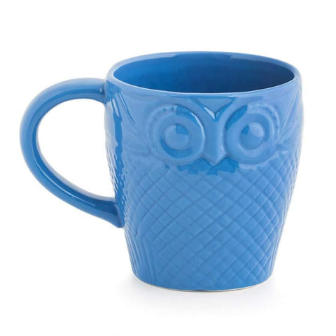 Forest Owl Mug - Blue