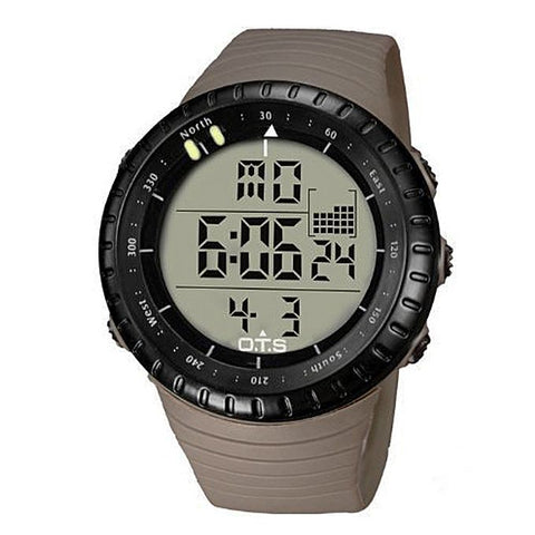 Brown Rubber Strap Digital Watch - Brown