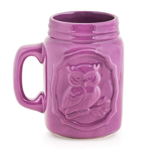 Forest Owl Mug - Purple