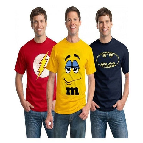 Fashion Pack of 3 - Multicolor Cotton Printed T-Shirts for Men