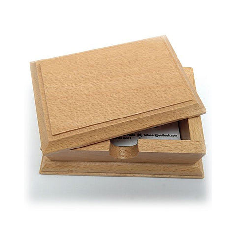 Business Card Holder - Pure Romania Imported Wood - Brown