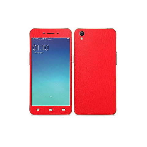 Oppo A37 Red Common Leather Texture Mobile Skin