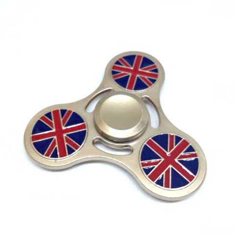 Metal Body Spinner With UK Flag Print