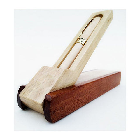 Pen Holder In Pure Wood - Brown