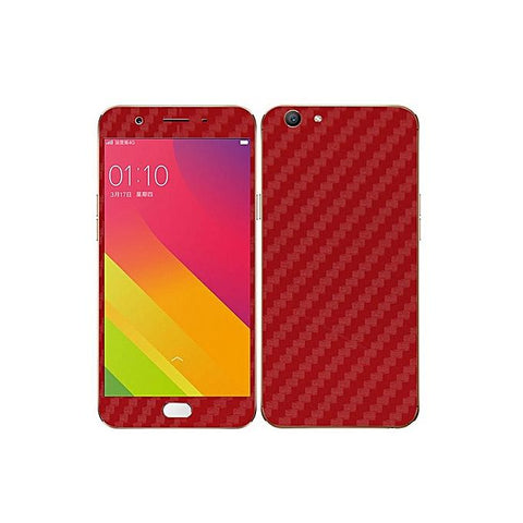 Oppo F1s Red Carbon Fiber Texture Skin