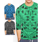 Pack of 3 Full Sleeves Floral Print Cotton T-Shirts for Men