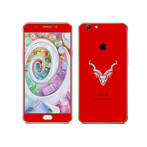 Oppo F3 iPhone Look Phone Skin Markhor - Red