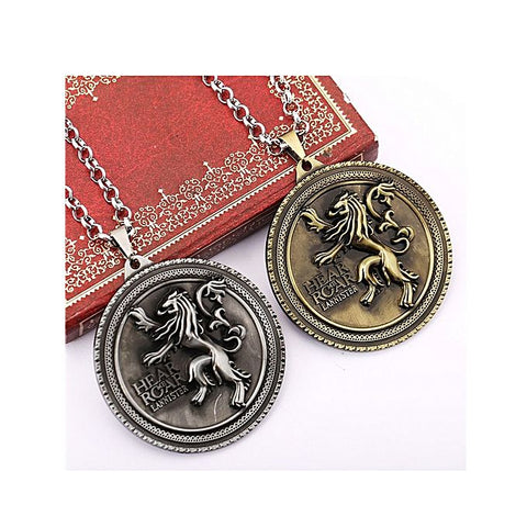 Pair of Game of Thrones Hear Me Roar Pendant for Men
