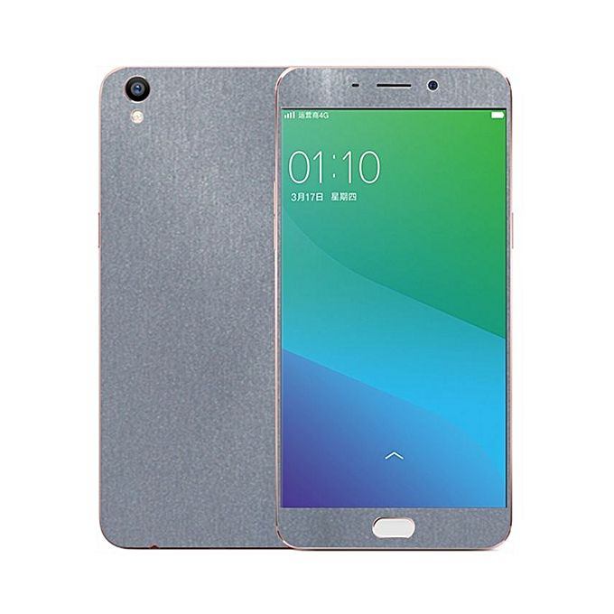 Oppo F1 Plus 3M Grey Brushed Metal Texture Skin