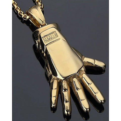 Iron Man Hand Pendant - Golden