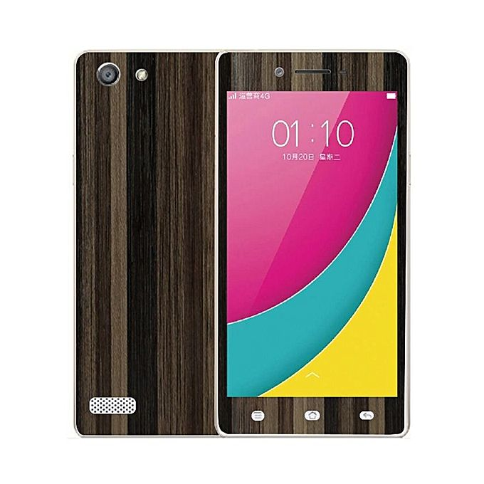 Oppo A33 Brown Stripped Wooden Texture Skin