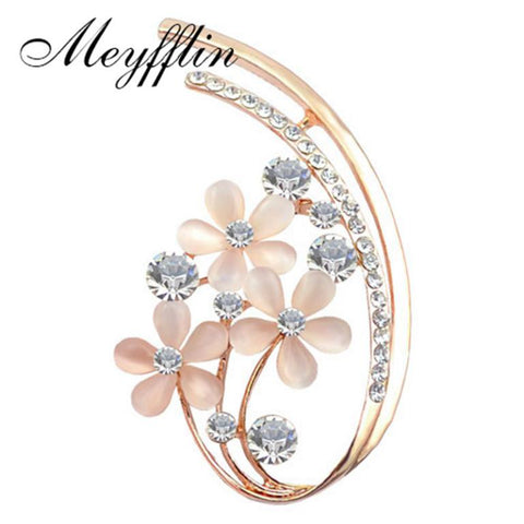 Brooches for Collar Fashion Jewelry Gold Opal
