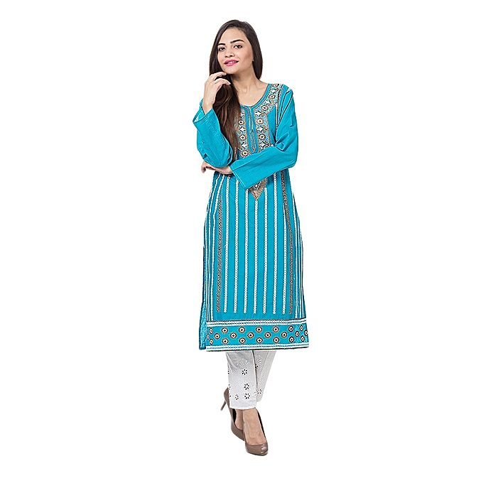 FC Lawn Embroidered Kurta for Women