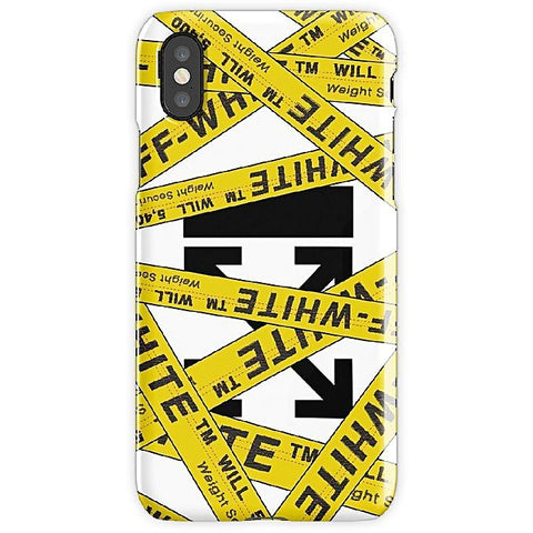 Off White Strapped Mobile Cover
