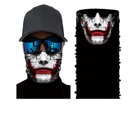 Joker 3D Creative Face Mask Bandana