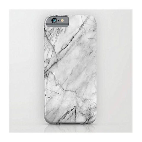 White Marble Mobile Cover