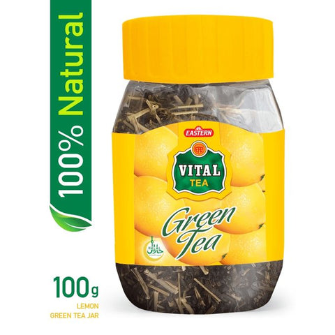 Vital Green Tea Natural Lemon Jar (100 g)