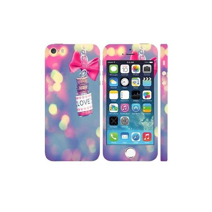 Apple Iphone 5s Love Bottle Custom Mobile Skin - Multicolor