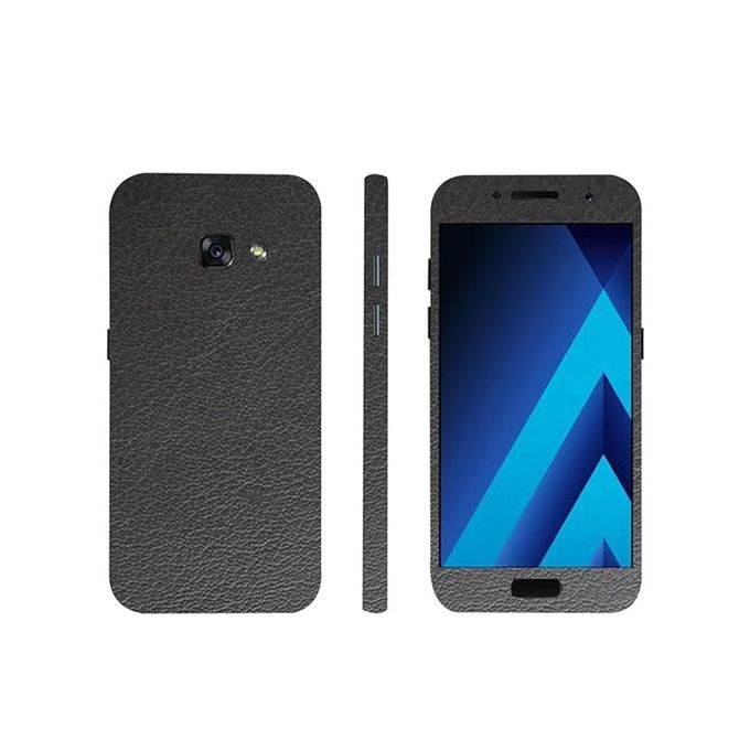 Samsung Galaxy A5 2017 Black Common Leather Texture Mobile Skin