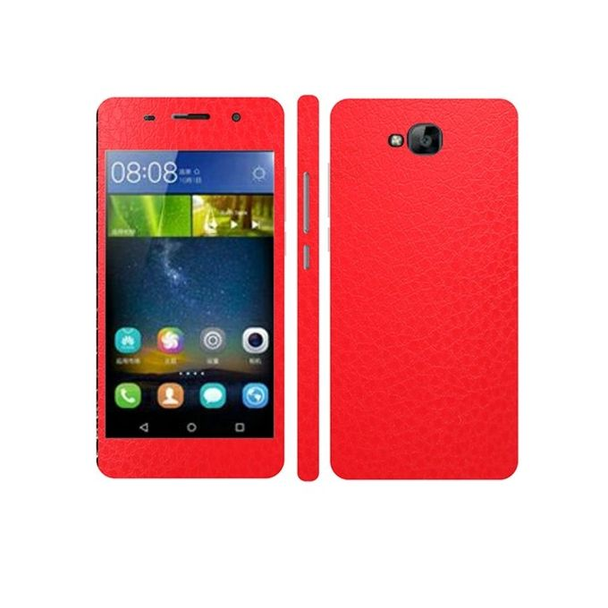 Huawei Y6 Pro Red Common Leather Texture Mobile Skin