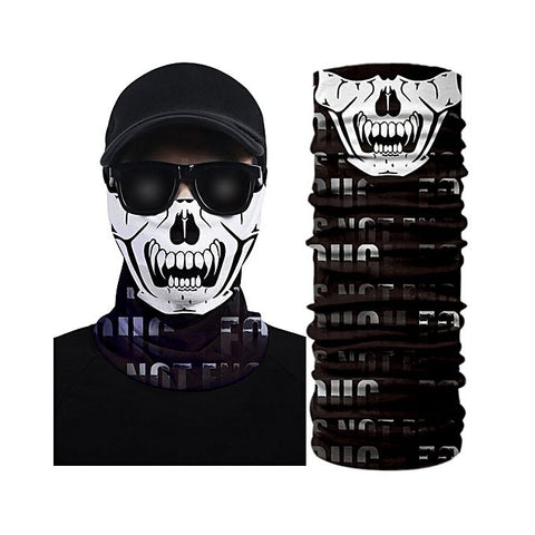 3D White Printed Creative Face Mask Bandana