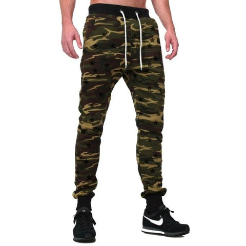 Green Cotton Commando Sweat Pants For Men