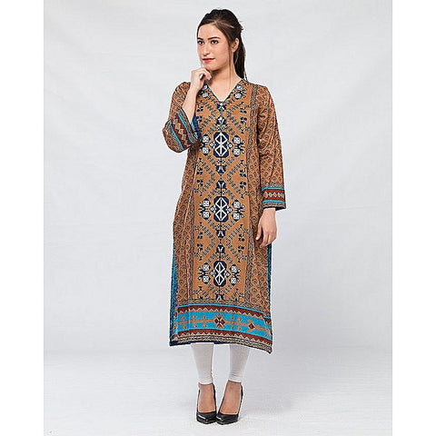 FC Printed Lawn Kurta for Women