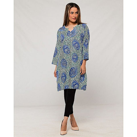 FC Printed Lawn Multi Kurta for Women