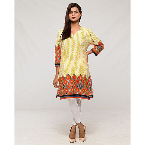FC Lawn Printed Kurta for Women - Multicolour