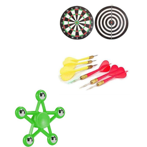 Dart Board Game With Free Star Fidget Spinner