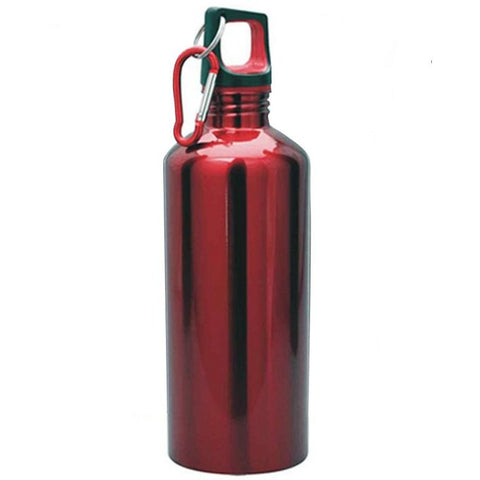 Stainless Steel Sports Water Bottle - Red