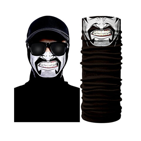White & Black 3D Creative Face Mask Bandana