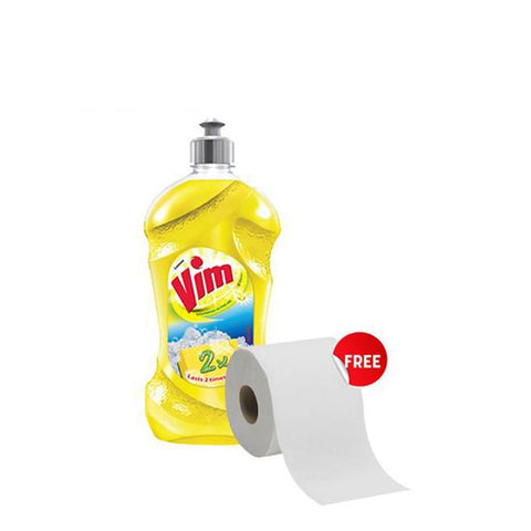Vim dish washing Gel with tissue roll  - 250 gm