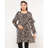 FC Printed Linen Kurta for Women
