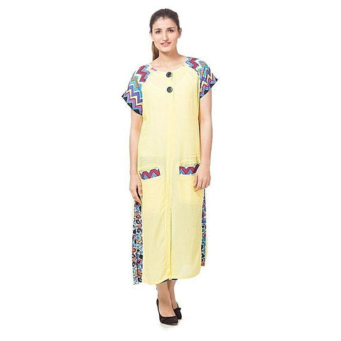 FC Yellow Malai Lawn Kurta for Women