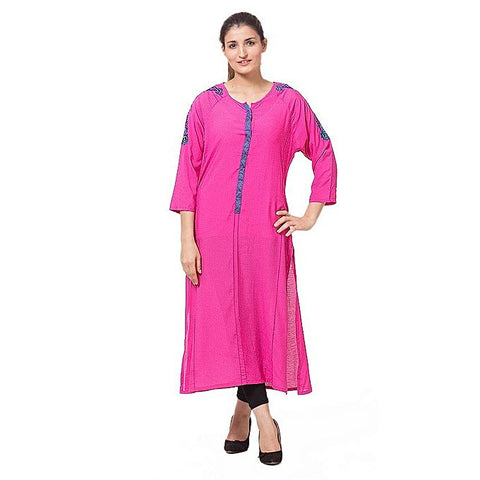 FC Malai Pink Lawn Kurta for Women