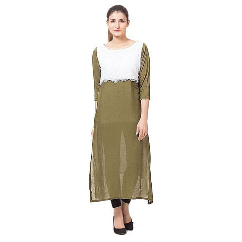 FC Malai Lawn & Net Kurta For Women