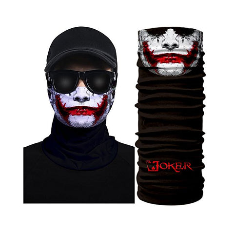 3D Red-White Creative Face Mask Bandana