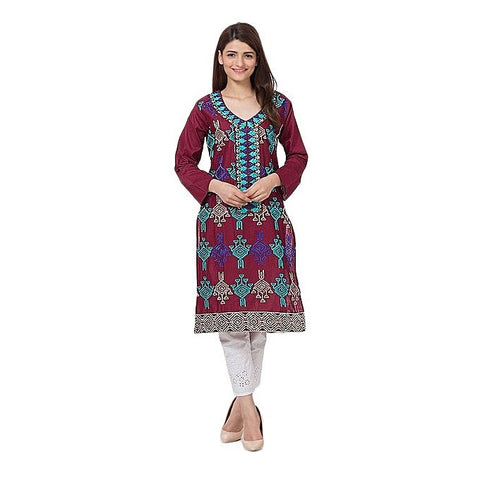 FC Mercerized Lawn Embroidered Kurta for Women