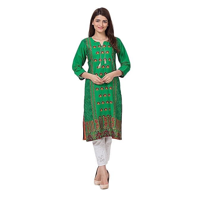 FC Mercerized Embroidered Lawn Kurta for Women