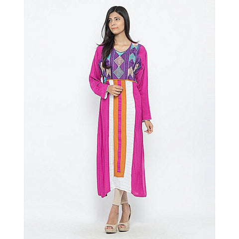 FC Malai Lawn Heavy Embroidery Kurta for Women