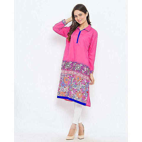 FC Malai Lawn Embroidery Kurta for Women
