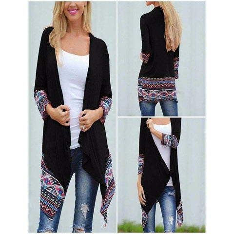 Multicolor Viscose Long Shrug For Women