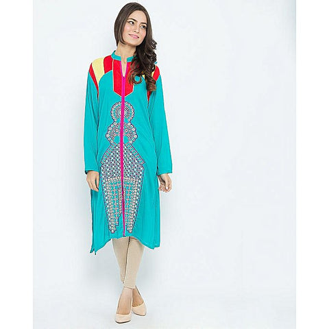 FC Malai Lawn Embroidered Kurta for Women