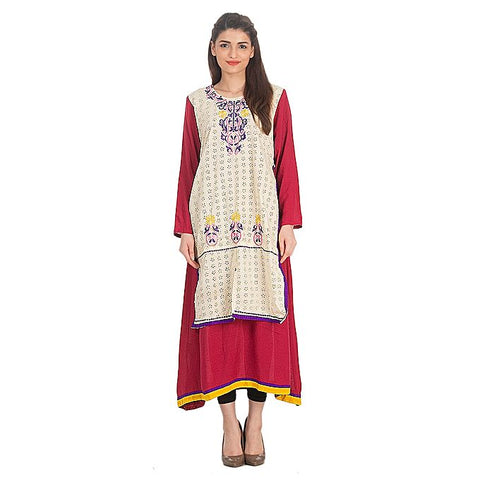 FC Kurta with Front Embroidery for Women