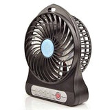Mini Portable USB Rechargeable Cooling Fan - Black